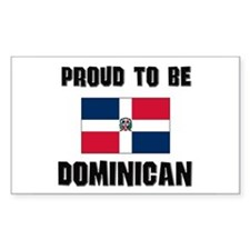 Proud To Be DOMINICAN Rectangle Decal