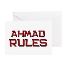 ahmad rules Greeting Card