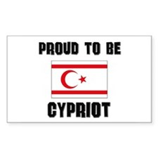 Proud To Be CYPRIOT Rectangle Decal