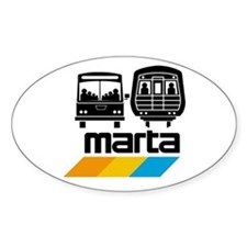 MARTA Oval Decal