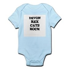 DEVON REX CATS ROCK Infant Creeper