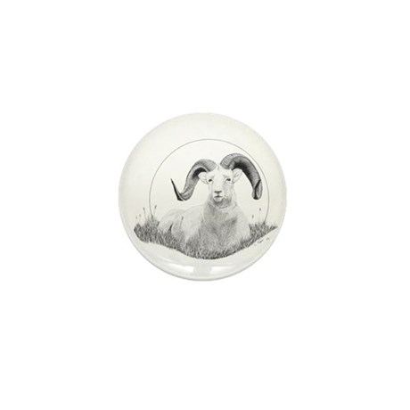 Dall Sheep Mini Button (100 pack)