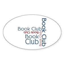 Book Club Multi Text Oval Decal