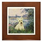 Seine / Scottie (w) Framed Tile