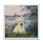 Seine / Scottie (w) Tile Coaster