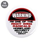"Right Wing Radical 3.5"" Button (10 pack)"