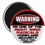 "Right Wing Radical 2.25"" Magnet (10 pack)"