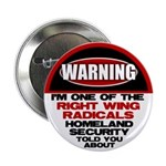 "Right Wing Radical 2.25"" Button (100 pack)"