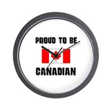 Proud To Be CANADIAN Wall Clock
