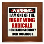 Right Wing Radical Framed Tile