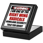 Right Wing Radical Keepsake Box
