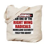 Right Wing Radical Tote Bag