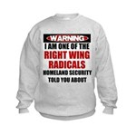 Right Wing Radical Kids Sweatshirt