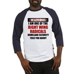 Right Wing Radical Baseball Jersey