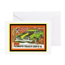 """1969 Barracuda"" Greeting Card"