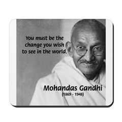 Loyalty to Cause: Gandhi Mousepad