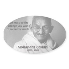 Loyalty to Cause: Gandhi Oval Decal