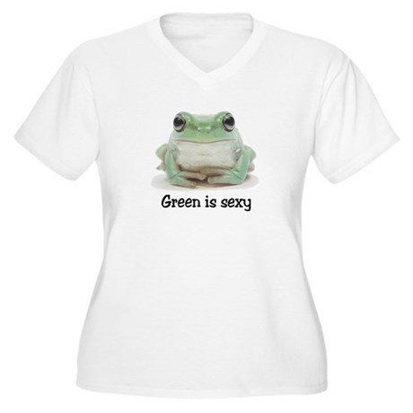 Green is Sexy Women's Plus Size V-Neck T-Shirt