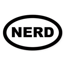 Nerd Car Oval Bumper Stickers