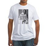 Gandhi Religion Non-violence Fitted T-Shirt