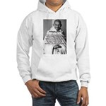 Gandhi Religion Non-violence Hooded Sweatshirt