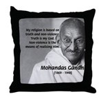 Gandhi Religion Non-violence Throw Pillow