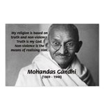 Gandhi Religion Non-violence Postcards (Package of