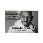 Gandhi Religion Non-violence Rectangle Magnet (100