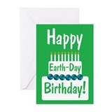 Happy Earth Day Birthday Greeting Cards (Pk of 20)