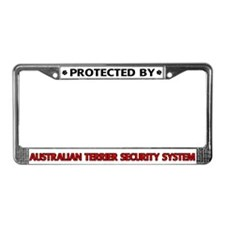 Australian Terrier Security License Plate Frame