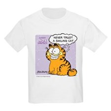 Never Trust a Smiling Cat T-Shirt
