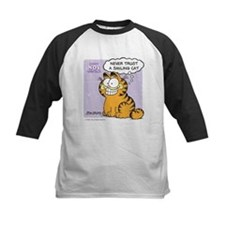 Never Trust a Smiling Cat Kids Baseball Jersey