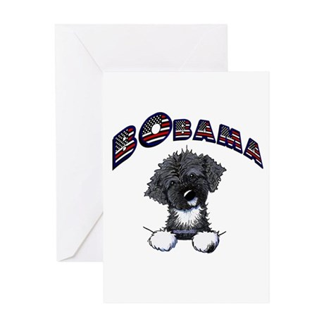 BObama 1st Dog PWD Greeting Card