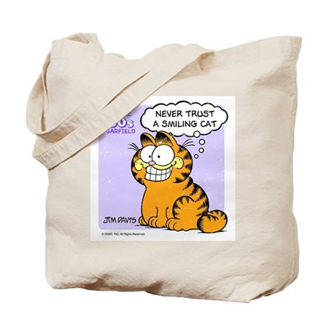 Never Trust a Smiling Cat Tote Bag
