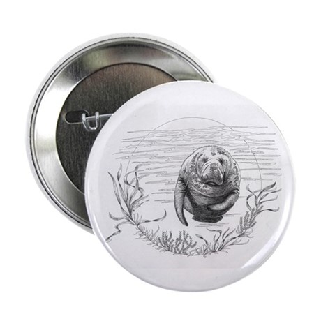 Manatee 2.25&amp;quot; Button (100 pack)