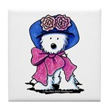 Miss Daisy Westie Tile Coaster