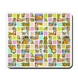 Classic Garfield Squares Mousepad