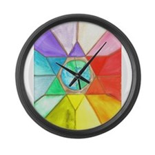 Activated Star Large Wall Clock