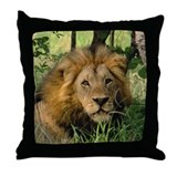"""Big African Lion"" Throw Pillow"
