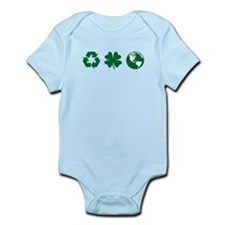 Recycle, Clover, Earth Infant Bodysuit