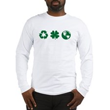 Recycle, Clover, Earth Long Sleeve T-Shirt