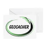 Green Geocacher Pizzaz Greeting Cards (Pk of 10)