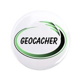 "Green Geocacher Pizzaz 3.5"" Button"