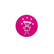 Juggle Girl (pink) Mini Button