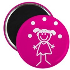 "Juggle Girl (pink) 2.25"" Magnet (10 pack)"