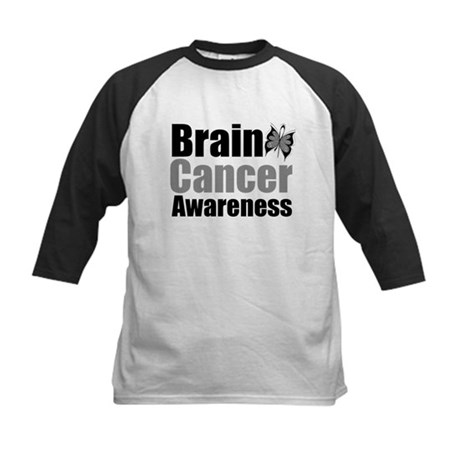 Brain Cancer Butterfly Kids Baseball Jersey