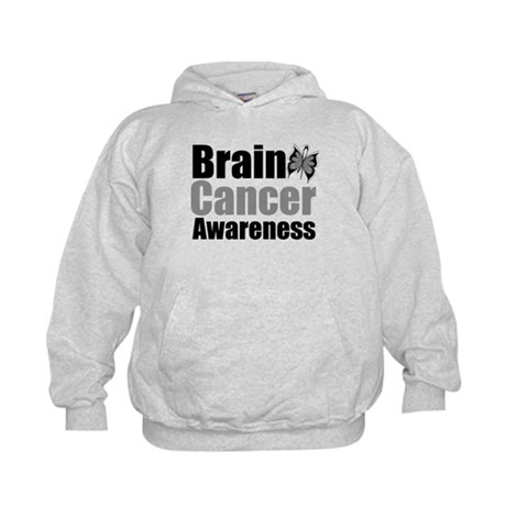 Brain Cancer Butterfly Kids Hoodie