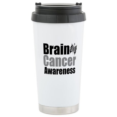 Brain Cancer Butterfly Ceramic Travel Mug
