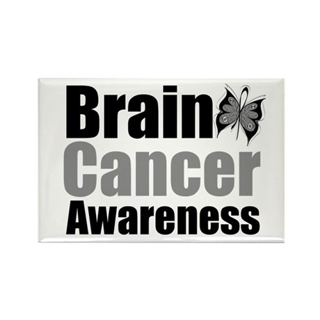 Brain Cancer Butterfly Rectangle Magnet