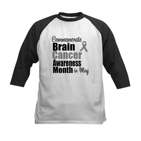 Brain Cancer - May Kids Baseball Jersey